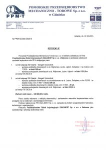 Referencje PPMT Gdańsk